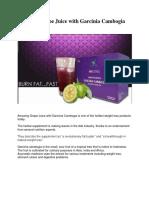 Amazing Grape Juice With Garcinia
