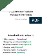 Department of Fashion Management Studies