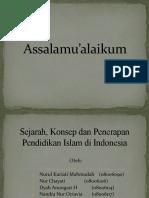 Sejarah, Konsep Dan Penerapan Pendidikan Islam Di