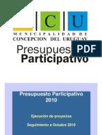 presupuesto participativo ejecución octubre