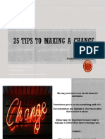 25 Tips to Make Changes