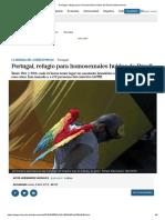 """""""Portugal, refugio para homosexuales huidos de Brasil"""" - Reportagem do """"El Mundo"""""""