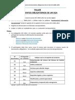 Taller 02 Documentos Obligatorios de Un SGA