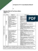 2019 ENS N° 10 Programa INGLÉS 4°6° Prof. MATEO