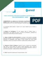 Bases Concurso Becas Desarrollo Profesional Integramedica-Amedi 2019