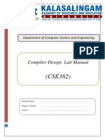 Compiler Design Lab Manual