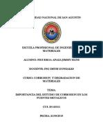 Importancia Del Estudio de Corrosion en Los Puentes Metalicos
