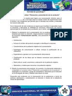 Act 7 Evidencia 6 Sesion Virtual Planeacion y Presentacion de Mi Producto