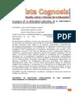NCIDENCIA DE LA INTELIGENCIA EMOCIONAL EN EL RENDIMIENTO ACADEMICO DE LOS ESTUDIANTES UNIVERSITARIOS