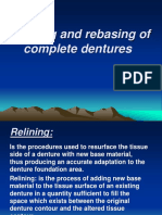 28. Relining and Rebasing of Complete Dentures