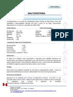 Ficha Tecnica Maltodextrina