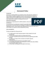 Homework Policy 2018 2019