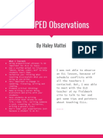 ell   sped observations