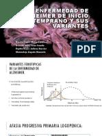 Enfermedad de Alzheimer de Inicio Temprano y Sus Variantes 123