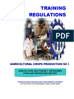 TR - Agricultural Crops Production NC I