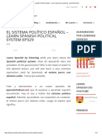 Spanish Political System - Learn Spanish by Listening - SpanishPodcast