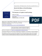 The Emergence of Cognitive Social Psychology