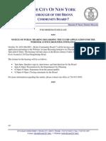 CB7PR 102010 - Public Hearing on Webster Avenue Rezoning ULURP
