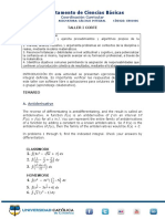 TALLER CORTE 1 Calculo Integral Economia 2019-1