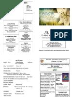 St Andrews Bulletin 042119 Easter