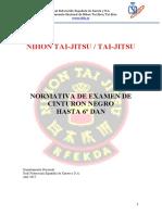RFEK Normativa de Examen Nihon Tai Jitsu 2017