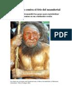 La herencia contra el frio del neandertal