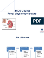 Renal Physiology Lecture for MRCS