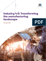 Industry 4.0 Transforming the Manufacturing Landscape