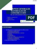 Conceptos Generales de Materiales de Construccion