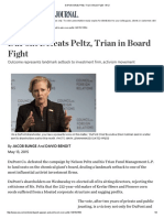 DuPont Defeats Peltz, Trian in Board Fight - WSJ