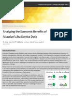 ESG Economic Validation Atlassian Jira Service Desk
