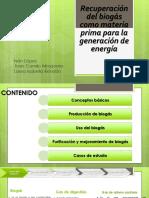 Recuperación Del Biogás Como Materia Prima Para La Generación de Energía Presentación Renovada