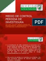 Medio de Control Perdida de Investidura