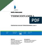 Modul Termodinamika
