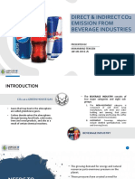 Direct & indirect Co2 emission from beverage industries