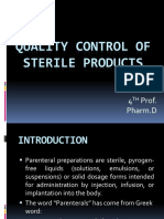 Q C Of sterile products