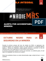 CHARLA INTEGRAL Alerta Accidentabilidad en Mineria