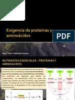 Exigencia de Proteínas y Aminoácidos