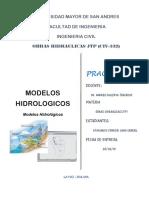 PRACTICA 9 Modelos Hidrologicos