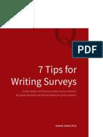7 tips for surveys