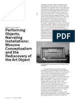 Performing objects, narrating installations
