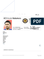 Kosuke Nakamura - Nazionale Transfermarkt