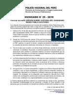 COMUNICADO PNP N° 25 - 2019