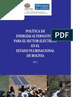 Politica de Energia en Bolivia 2011