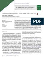 Three Dimensional Numerical Rock Damage Analysis Under Blasting Load