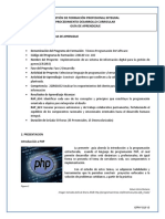 Gfpi f 019 Guia de Aprendizaje 6 Introduccion a Php
