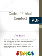Code of Ethical Conduct