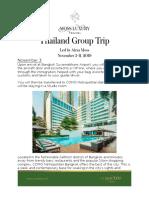 Thailand Group Trip