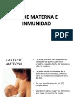 Leche Materna e Inmunidad