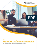 SÍLABO METODOLOGÍA UNIVERSITARIA